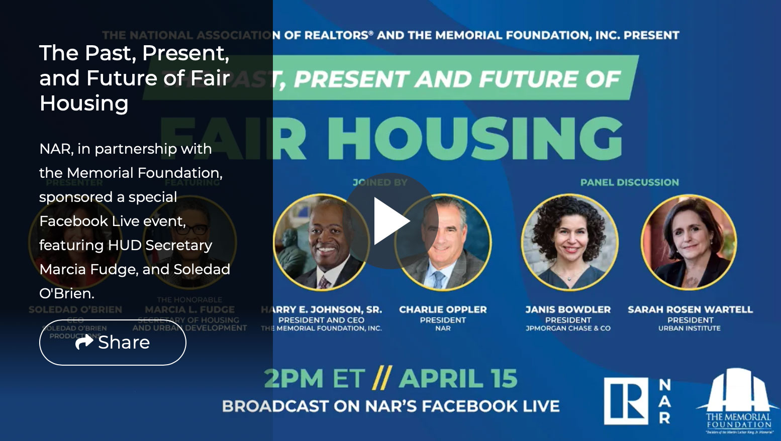 NAR Video: Past, Present, and Future of Fair Housing